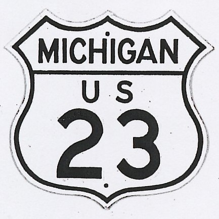 Historic shield for US 23 in Michigan