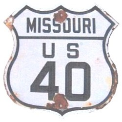 Historic shield for US 40 in Missouri