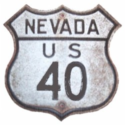 Historic shield for US 40 in Nevada
